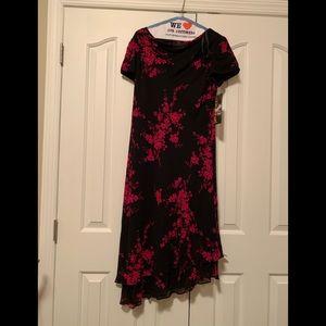 Donna Ricco Black and fushia dress